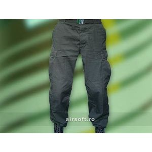 PANTALONI MODEL RIPSTOP (NEGRU) imagine