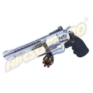 REVOLVER DAN WESSON 6 INCH SILVER - FULL METAL - GNB - CO2 imagine