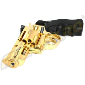 REVOLVER DAN WESSON 2.5 INCH GOLD - FULL METAL - GNB - CO2 - LIMITED EDITION imagine