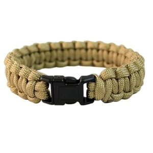 PARACORD - BRATARA SUPRAVIETUIRE 15MM - COYOTE imagine