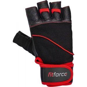 Fitforce FERAL negru L - Mănuși fitness piele imagine
