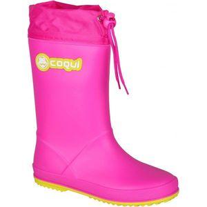 Coqui RAINY COLLAR roz 31 - Cizme copii imagine