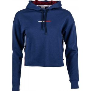 Tommy Hilfiger CROPPED HOODY LOGO albastru L - Hanorac damă imagine