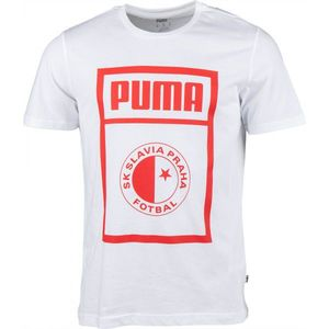 Puma SLAVIA PRAGUE GRAPHIC TEE gri închis XL - Tricou de bărbați imagine