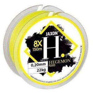 Fir textil Jaxon Hegemon 8X galben fluo, 150m (Diametru fir: 0.08 mm) imagine
