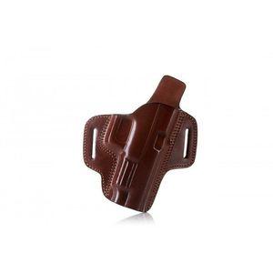 Toc Falco Premium deschis pancake din piele pentru curea Glock 19, maro dreapta imagine