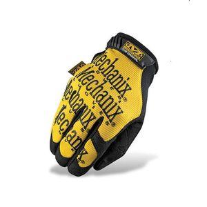 Mechanix Original mănuși tactice galbene cu scris negru imagine