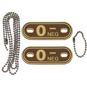 MFH Dog-Tags Plăcuțe de identificare 0 NEG, 3D PVC imagine