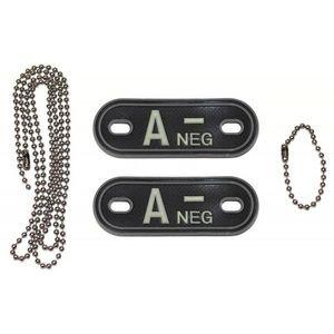 MFH Dog-Tags Plăcuțe de identificare A NEG, 3D PVC imagine