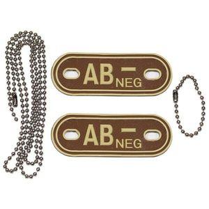 MFH Dog-Tags Plăcuțe de identificare AB NEG, 3D PVC imagine