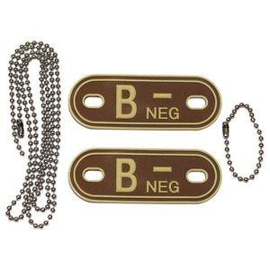 MFH Dog-Tags Plăcuțe de identificare B NEG, 3D PVC imagine