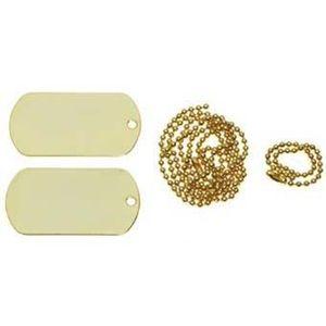MFH Dog-Tags plăcuțe de identificare aurii, cu lanț imagine