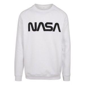 NASA EMB Crewneck hanorac pentru bărbați, alb imagine