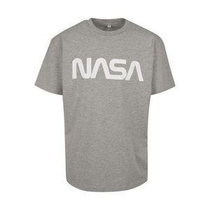 NASA tricou pentru bărbați Heavy Oversized, gri imagine