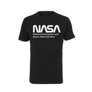 NASA tricou pentru bărbați Wormlogo, negru imagine