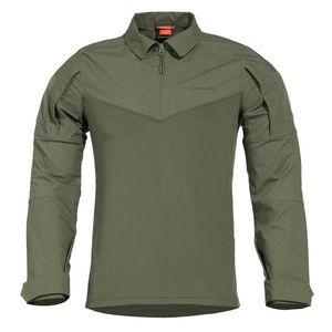 Pentagon Ranger tricou tactic cu mânecă lungă, camo green imagine