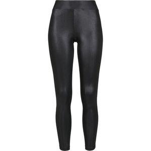 Urban Classics Imitation Leather colanți pentru femei, imitație de piele neagră imagine