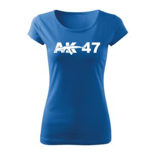 WARAGOD Tricou de damă AK47, albastru 150g/m2 imagine