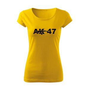 WARAGOD tricou de damă ak47, galben 150g/m2 imagine