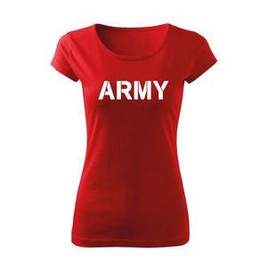 WARAGOD tricou de damă army, roșu 150g/m2 imagine