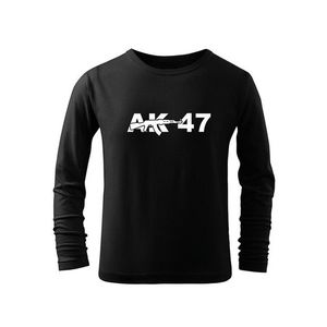 WARAGOD Tricouri lungi copii AK47, negru imagine