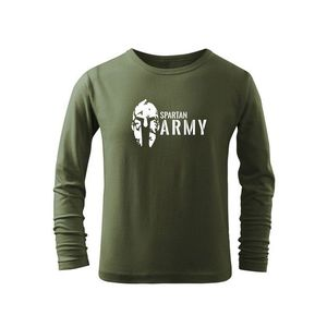 WARAGOD Tricouri lungi copii Spartan army, măsliniu imagine