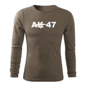 WARAGOD Fit-T tricou cu mânecă lungă ak47, oliv 160g/m2 imagine