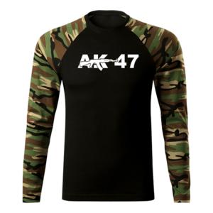 WARAGOD Fit-T tricou cu mânecă lungă ak47, woodland 160g/m2 imagine