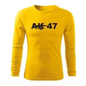 WARAGOD Fit-T tricou cu mânecă lungă ak47, galben 160g/m2 imagine