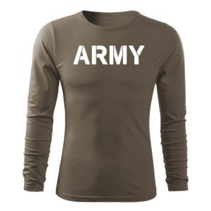 WARAGOD Fit-T tricou cu mânecă lungă army, măsliniu160g/m2 imagine