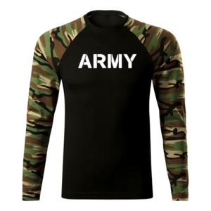 WARAGOD Fit-T tricou cu mânecă lungă army, woodland 160g/m2 imagine