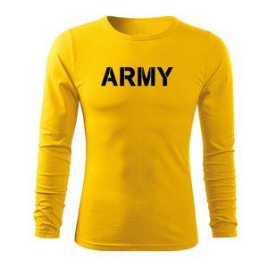 WARAGOD Fit-T tricou cu mânecă lungă army, galben 160g/m2 imagine