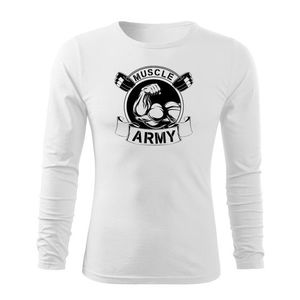 WARAGOD Fit-T tricou cu mânecă lungă muscle army original, alb 160g/m2 imagine