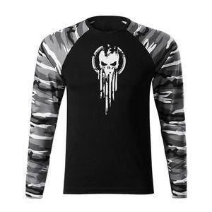 WARAGOD Fit-T tricou cu mânecă lungă skull, metro160g/m2 imagine