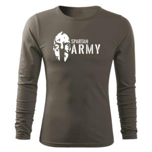 WARAGOD Fit-T tricou cu mânecă lungă spartan army, oliv 160g/m2 imagine