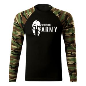 WARAGOD Fit-T tricou cu mânecă lungă spartan army, woodland 160g/m2 imagine