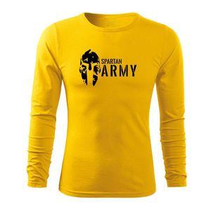 WARAGOD Fit-T tricou cu mânecă lungă spartan army, galben 160g/m2 imagine