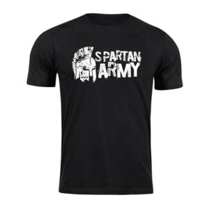 Tricou scurt Waragod spartan army Aristón, negru 160g/m2 imagine