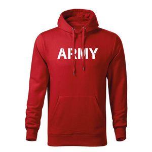 WARAGOD hanorac barbati cu gulgă army, roșu 320g / m2 imagine