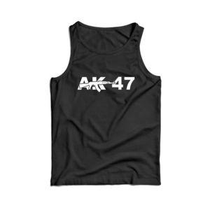 Waragod maieu pentru bărbați AK-47, negru 160g/m2 imagine