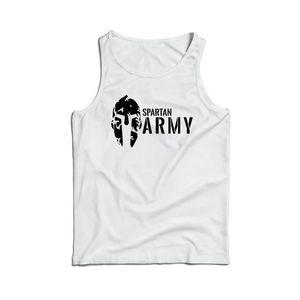 Waragod maieu bărbați spartan army, alb 160g/m2 imagine