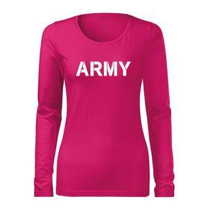 WARAGOD Slim tricou de damă cu mânecă lungă army, roz 160g/m2 imagine