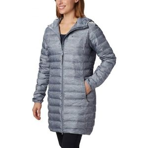 Columbia LAKE 22 DOWN LONG HOODED JACKET gri S - Geacă cu puf damă imagine