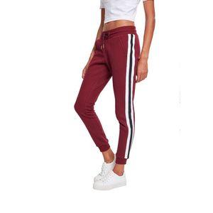 Pantaloni de trening Urban Classics pentru femei pentru colegiu, bordo imagine