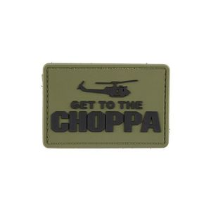 GFC Tactical Petic Get to the Choppa, olive drab, 5x 7, 5cm imagine