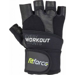 Fitforce LINEAR L - Mănuși fitness piele imagine