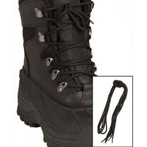 Șireturi pentru pantofi Mil-Tec Pe, negru 140cm imagine