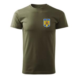 WARAGOD tricou stema mică color a Romăniei, oliv 160g/m2 imagine