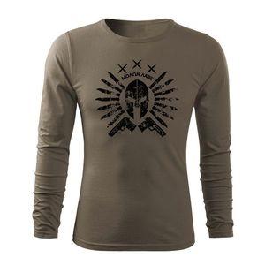 WARAGOD Fit-T tricou cu mânecă lungă Ares, măsliniu160g/m2 imagine