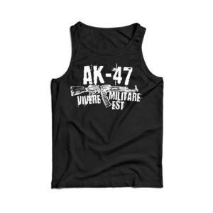 Waragod maieu pentru bărbați Seneca AK-47, negru 160g/m2 imagine